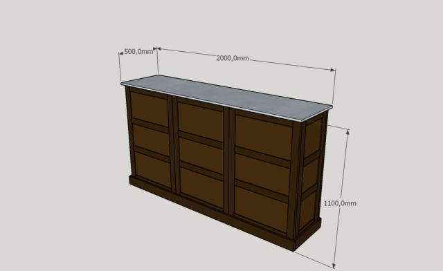 Bar 3D Dessin Lons