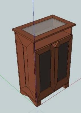 Commode en 3D menuiserie lons