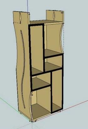 Etagère 3D Design Artisan Bois