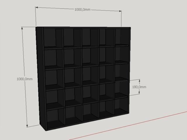 Etagère Murale Dessin 3D Noir