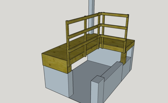 Passerelle 3D Dessin Artisan Pau