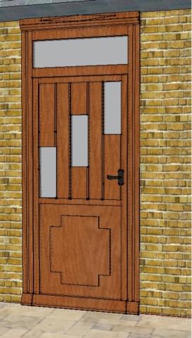 Porte en 3D Dessin Pau 64