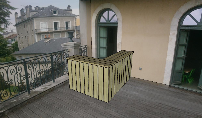 Terrasse Baylaucq Dessin 3D Pau 64