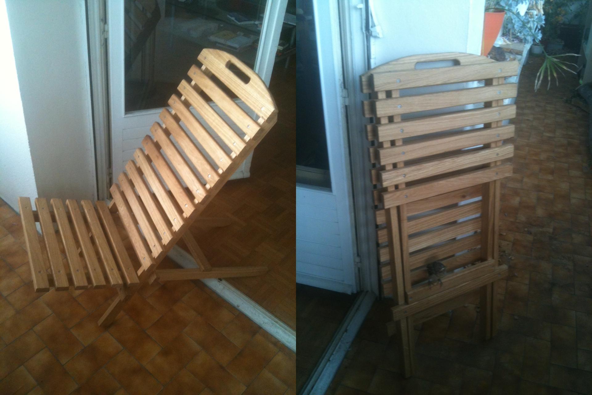 Chaise de jardin Menuiserie Lons