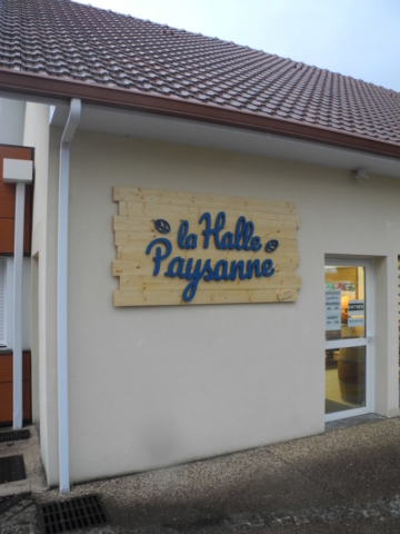 La Halle Pancarte Artisan Menuisier Pau LONS