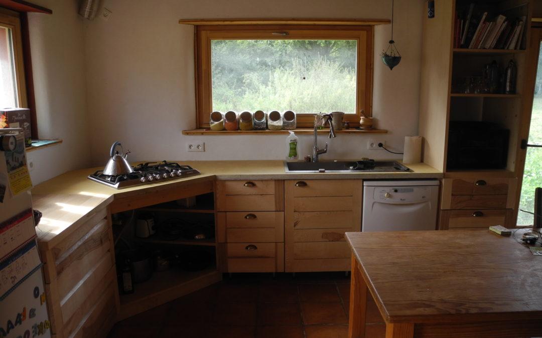 Une cuisine en frêne