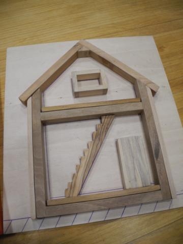 Maquette Maison en bois meuble